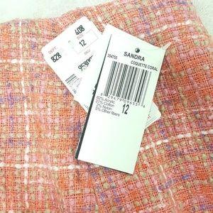 Sandra Coquette Skirts - Sandra Coquette Coral Skirt - Elegant Tweed